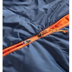 Haglöfs Tarius +1 Sac de couchage 190cm, midnight blue/tangerine